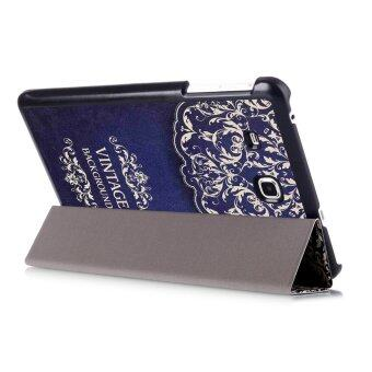 "Harga GETEK Folio Leather Cover Stand For Samsung Galaxy Tab A 7.0"" T280 T285 (Deep Blue)"