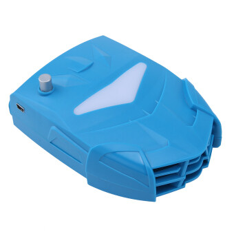 Harga niceEshop Laptop Cooler with Vacuum Fan, Laptop Air Extracting Cooling Fan (Blue)