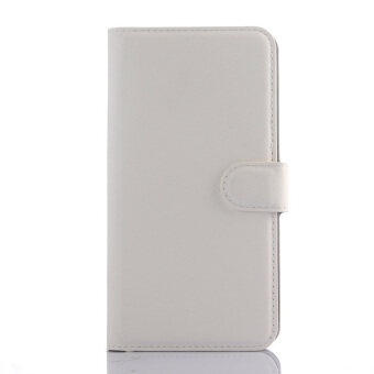 Harga Flip Leather Cover for Meizu M2 Note (White)