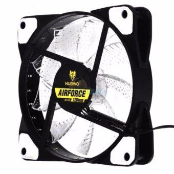 Harga พัดลม FAN Nubwo NFT-100 Air Force 120mm LED Fan Case White