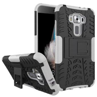 Harga BYT Rugged Dazzle Case for Asus Zenfone 3 ZE520KL 5.2inch with Kickstand (White)