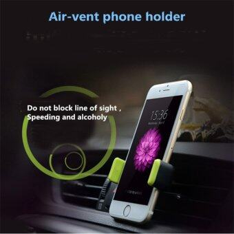 Harga Air-vent phone holder In Car Airvent Air-con Aircond for iPhone 6 Samsung Galaxy - intl