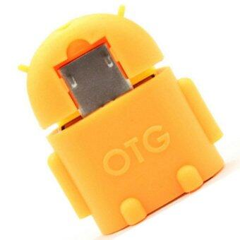 Harga Android Robot Shape Micro Mini USB OTG Adapter Cable (Orange) - Intl