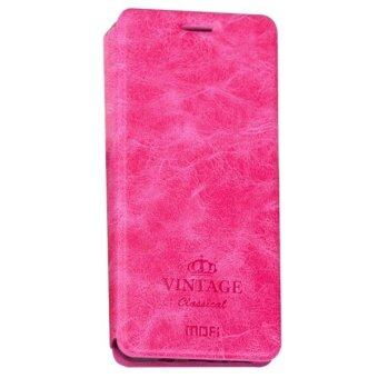 Harga MOFI VINTAGE for Samsung Galaxy A7 (2017) / A720 Crazy Horse Texture Horizontal Flip Leather Case with Card Slot & Holder(Magenta)