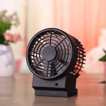 Harga Portable Mini USB Desk Fan Mute Cooling Fan Operated 2 Speed Modes Summer Travel - intl