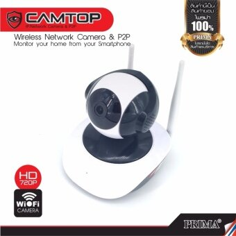 กล้องวงจรปิด Ip camera 720P ไร้สาย ราคาถูก ดูผ่านมือถือwifi หมุนได้รอบทิศทาง