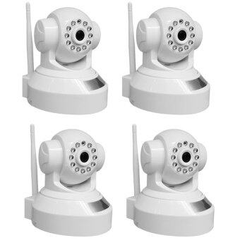 IP Camera กล้องวงจรปิดไร้สาย IP Camera Full HD 1.0MP ติดตั้งง่าย แพ็ค4ชิ้น (White)
