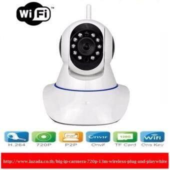 IP Carmera 720P 1.3M กล้องวงจรปิดไร้สาย-สีขาว