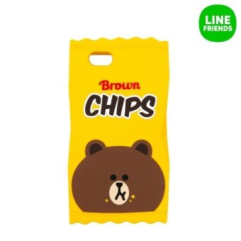 Harga IPHONE6/6S SILICONE CASE_CHIPSBROWN_YL_BURGER&CHIPS