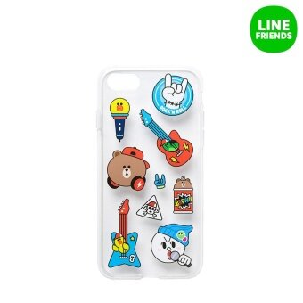 Harga IPHONE7 JELLY CASE_MUSIC FRIENDS_BEAT BROWN
