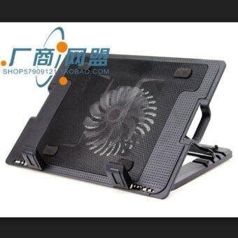 IT NoteBook Stand & Cooling Padพัดลมระบายความร้อนโน๊ตบุ๊คปรับระดับได้ (สีดำ) รุ่นLXN25
