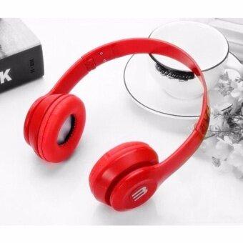 ซื้อ/ขาย หูฟังสีสดใส (สีแดง) พับได้ มีไมค์ รับสาย/คุยมือถือได้ แบบครอบหู รุ่น J-03
