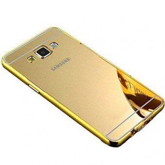 เคส J7 2016 (เวอร์ชั่น 2) เคสกระจก Case ซัมซุง Samsung J7 2016 NewBumper Mirror Case 2 in 1 Gold 18k 24k Aluminium Mirorขอบอลูมิเนียม่ สีทอง