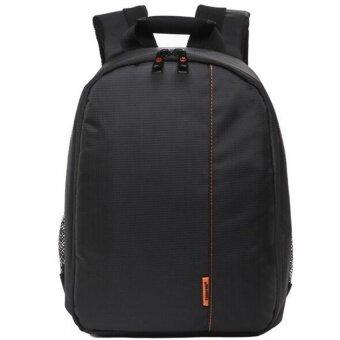 joyliveCY Pattern SLR Camera Bag Backpack Video PhotoBagsSmallCompact Camera Backpack (Black Orange) - Intl - intl