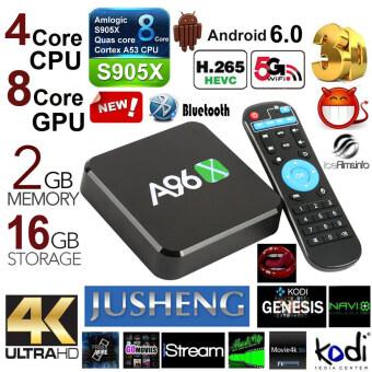JUSHENGA96Z Android 6.0 TV Box 2G/16G Amlogic S905X Quad Core CPU Kodi 16.0 Fully Loaded TV Box 4K Dual Band Wifi Bluetooth 4.0 SPDIF TV Stick Streaming Media Player