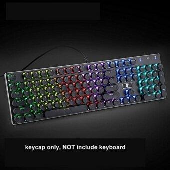 แนะนำ Keycap 104 Double Shot Injection Backlit Keycaps Retro Typewriter Style for all Mechanical Keyboards ,