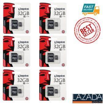 ขาย Kingston anny Kingston Memory Card Micro SD SDHC 32 GB Class 10 คิงส์ตัน เมมโมรี่การ์ด 32 GB แพ็ค 6ชิ้น