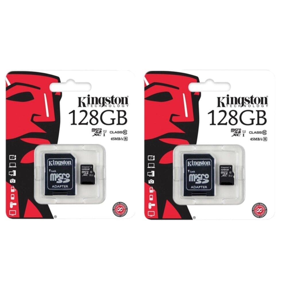 Kingston Memory Card เมมโมรี่การ์ด Micro SD 128GB2ชิ้น (Class10)