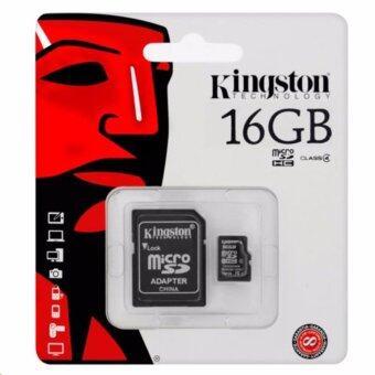 Kingston Memory Card เมมโมรี่การ์ด Micro SD 16GB 1ชิ้น (Class10)