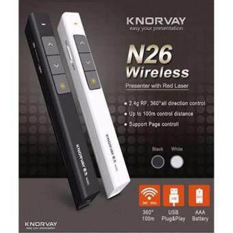 KNORVAY Wireless Presenter with Laser Pointer N26C รีโมทพรีเซนต์ไร้สายพร้อมเลเซอร์
