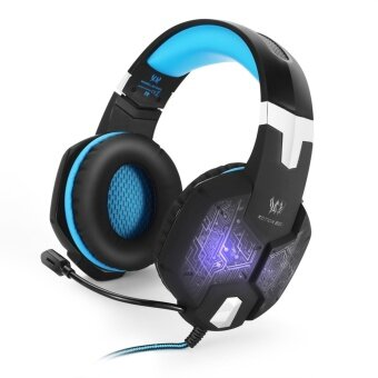 KOTION EACH G1000 Professional 3.5mm PC Gaming Bass Stereo Headphone With Mic Breathing LED Light (Blue) - intl