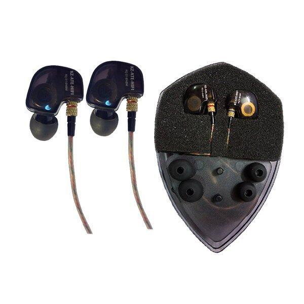 KZ ATE หูฟัง In-ear Hifi Metal Stereo Earphone with Mic (สีดำ)