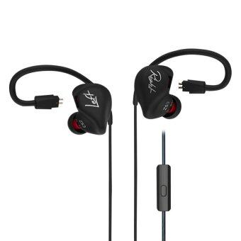 KZ ZS3 HiFi Stereo Metal In-ear Wired Earphone - Black (With Mic) -intl