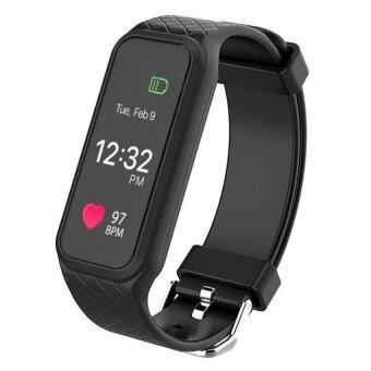 Harga L38i Color-Fullscreen Smartband Dynamic Bluetooth Heart Rate SmartBracelet for Ios And Android - intl