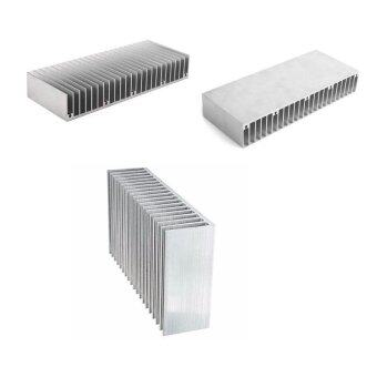 Harga Large Big Aluminum Heatsink Heat sink radiator for Led High PowerAmplifier amp - intl