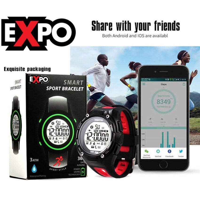 (LBD) I-SMART EXPO 2017 นาฬิกาออกกำลังกาย สมาร์ทวอช์ XWatch Sport Smart Watch Waterproof Dust-proof Night For Android Bluetooth - สีดำ