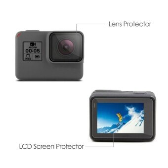LCD Screen Protector + Lens Protrector Film for GoPro Hero 5 - intl
