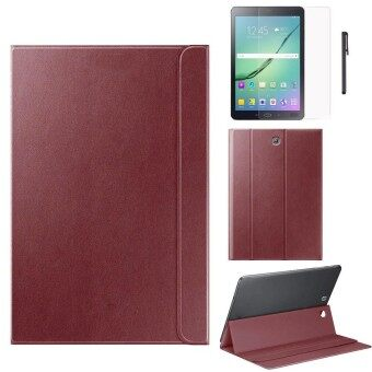 Leather Case For Samsung Galaxy Tab S2 8 Inch T710 T715 +Film +Pen BW - intl