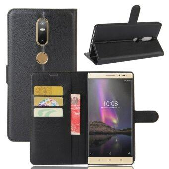 Leather Flip Cover Protective Case For Lenovo Phab 2 Plus (Black) -intl