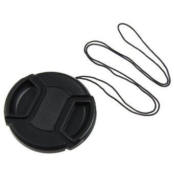 Leegoal Black 58mm Plastic Snap on Lens Cap with Cable for SLRCameras - intl