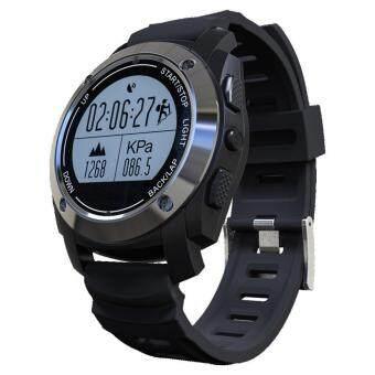 leegoal กีฬาระดับมืออาชีพ GPS ความแรงของนาฬิกาสมาร์ทนาฬิกาอัตราหัวใจสูงขี่การปีนเขาทำงานขั้นตอนการจัดตำแหน่ง - สีดำ