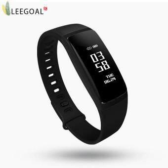 leegoal สร้อยข้อมือสมาร์ทแบนความดันโลหิตออกซิเจน Oximeter อัตราหัวใจนาฬิกาบลูทู ธ นาฬิกาออกกำลังกาย Pedometer สำหรับ IOS Android Men - intl