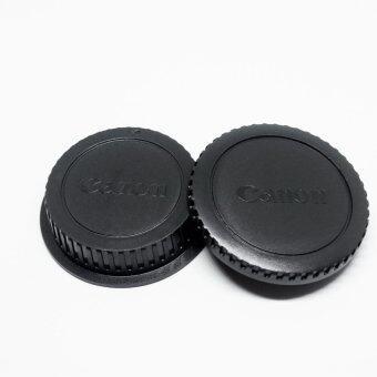 Lens Cap ฝาปิดท้ายเลนส์ + Body Cap ฝาปิดบอดี้ Canon DSLR