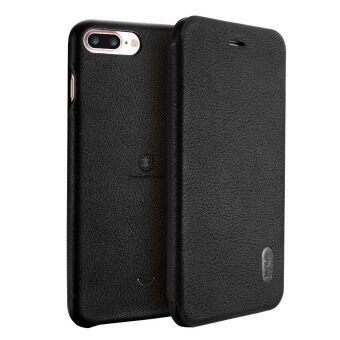 LENUO Ultra Thin Flip Cover Case Soft Leather Cell Phone Cases ForApple iPhone 7 Plus (Black)