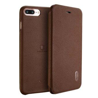 LENUO Ultra Thin Flip Cover Case Soft Leather Cell Phone Cases ForApple iPhone 7 Plus (Brown)