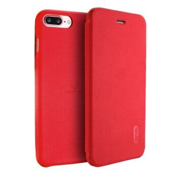 LENUO Ultra Thin Flip Cover Case Soft Leather Cell Phone Cases ForApple iPhone 7 Plus (Red)