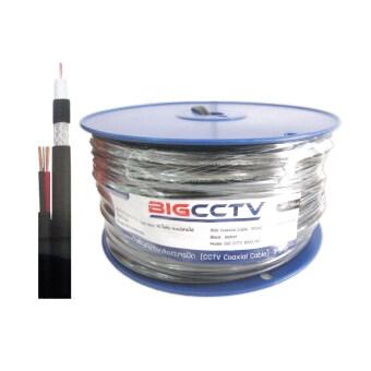 Leotech BIG CCTV สายกล้องวงจรปิด ชิลด์ 95% 100ม. มีไฟเลี้ยง - สีดำ