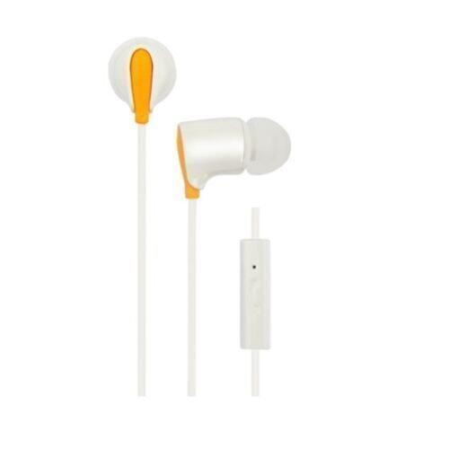 LG LS-12 Earset Headphones with Mic For Smartphones LS12 White Orange - Intl