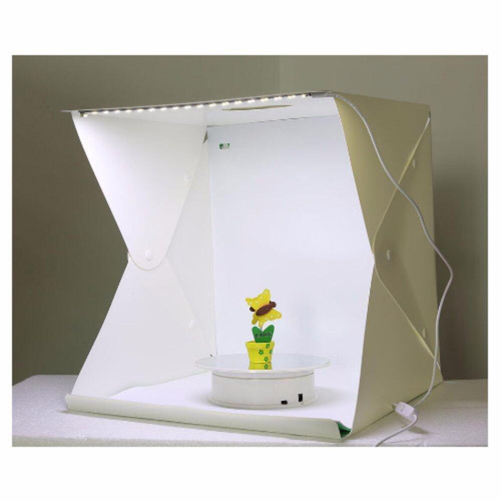 LightBox สตูดิโอถ่ายภาพแบบพกพา ขนาด40x40x40ซม. สตูดิโอถ่ายภาพสตูดิโอแบบพกพา Portable Photo Studio Booth 40x40x40cm