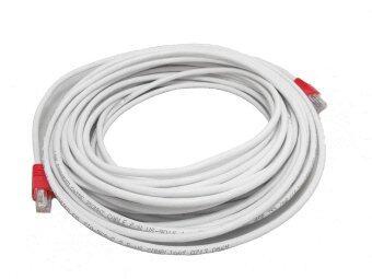 Link Cable CAT5E สายแลน เข้าหัวสำเร็จรูป 25 เมตร - สีขาว
