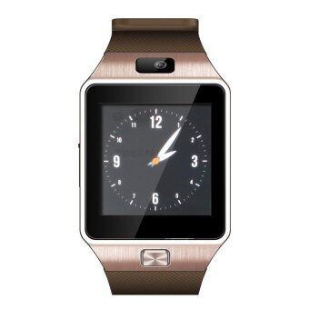 LNW กล้องนาฬิกาบูลทูธ ใส่ซิมได้ Bluetooth Smart Watch SIM CardCamera รุ่น DZ09 (สีทอง)