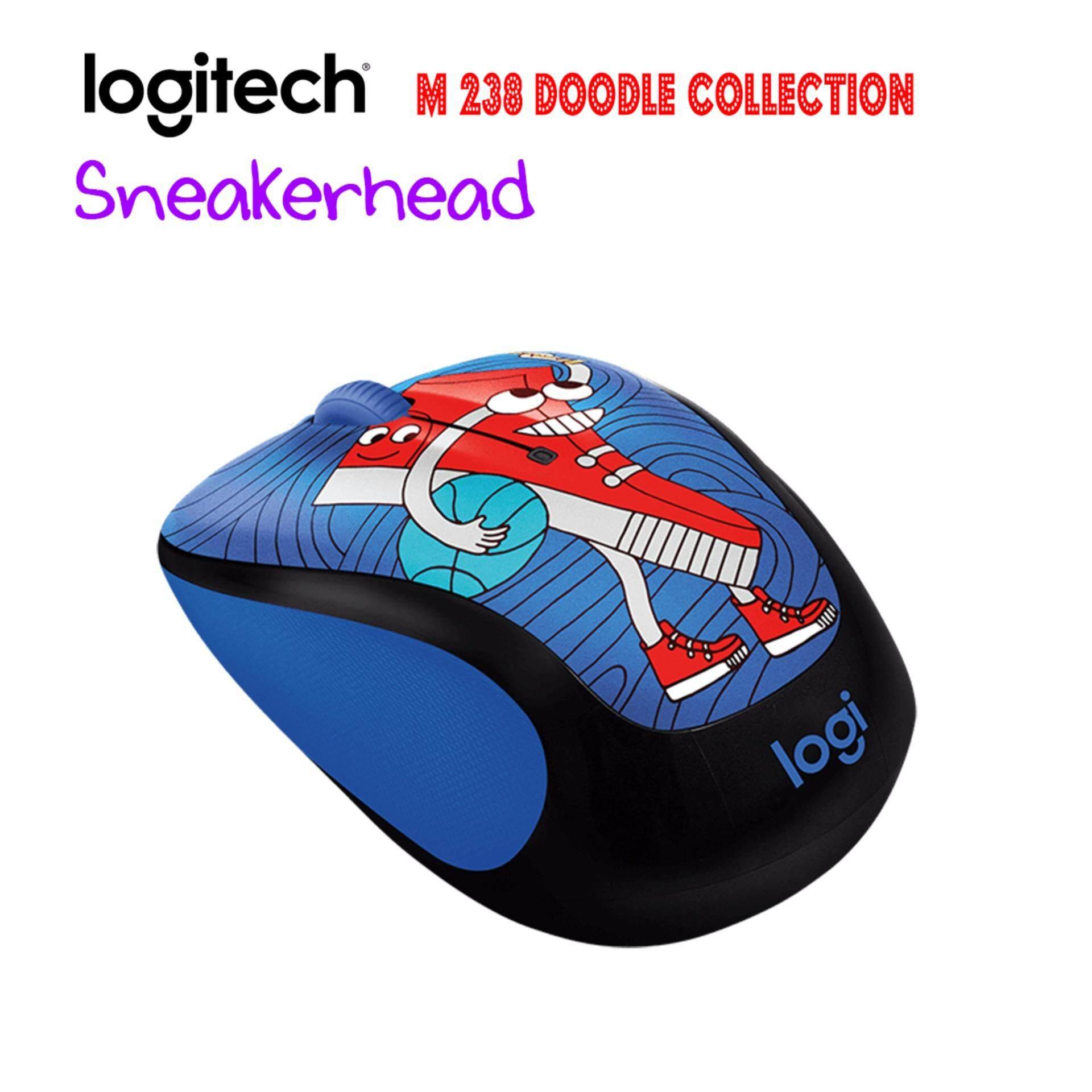 Logitech M238 Doodle Collection Sneakerhead Daftar Harga Terbaru Wireless Mouse Party Toucan