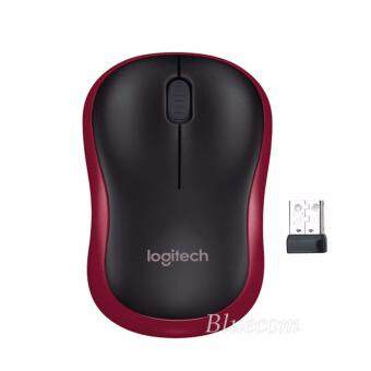 Logitech Wireless Optical Mouse รุ่น M-185R (Black/Red)