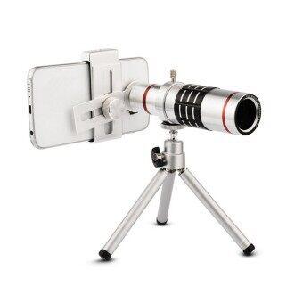 Lomo Clip Lens เลนส์เสริมมือถือ 18x Telescope Zoom Lens (สีเงิน)