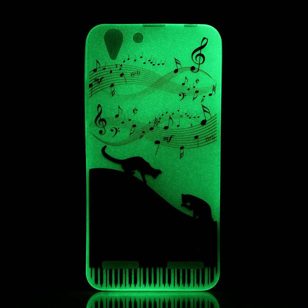 Luminous Gel TPU Case for Lenovo Vibe K5 Plus / Vibe K5 - MusicNote and Cats