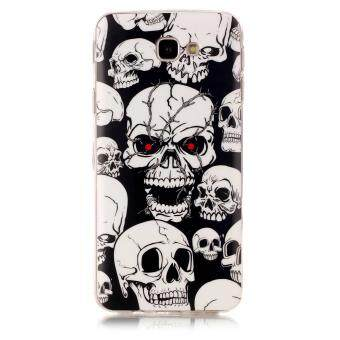 Luminous Glow in the Dark IMD TPU Case for Samsung Galaxy J7Prime/On7 2016 - Skulls - intl